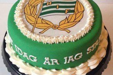 En tårta med Hammarbys färger
